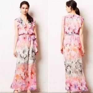 ANTHROPOLOGIE HD IN PARIS Easel Flora Maxi Dress 4